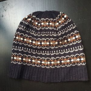 Jcrew wool fair aisle beanie